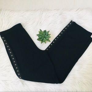Misook Petite Black Grommet Pants Sz XS